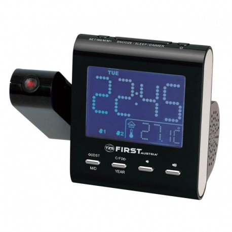 AM/FM ALARM CLOCK RADIO FIRST AUSTRIA FA-2421-1